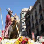 Jesús en la entrada a Jerusalén